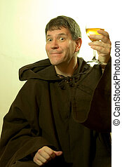 de, monnik, praises, de, wijntje