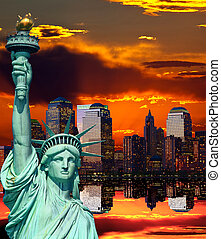 de, new york stad skyline