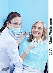 de, ontvangst, was, op, de, tandarts