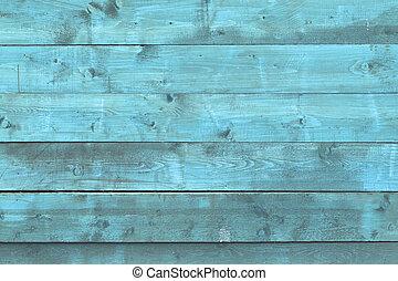 de, oud, blauwe , hout samenstelling, met, natuurlijke knippatroonen