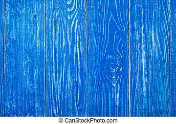 de, oud, blauwe , hout samenstelling, met, natuurlijke , patterns., achtergronden, concept, -, oud, houten hek, geverfde, in, blauwe achtergrond