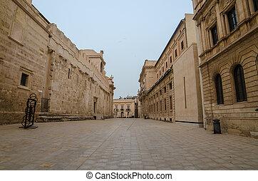 de, oude stad, van, syracuse, sicilië