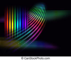 de par en par, espectro, plano de fondo