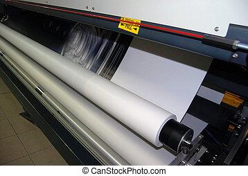 de par en par, impresión, -, digital, formato
