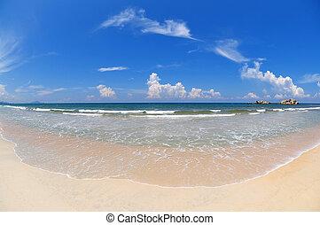 de par en par, playa., ángulo