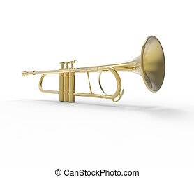 de par en par, trompeta, tiro del ángulo
