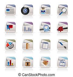 de pictogrammen van de computer, -, bestand, formaten