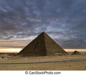 de piramides, nieuwe dag