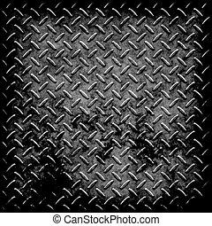 de plaat van de diamant, metaal, textuur