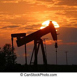 de pomp van de olie, dommekracht
