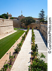 De Redin Bastion – a part of the fortifications of Mdina, Malta