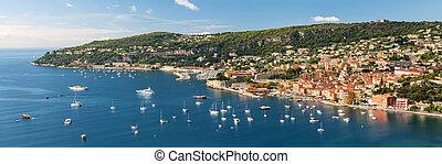 de, riviera, casquette, francais, villefranche-sur-mer, gentil
