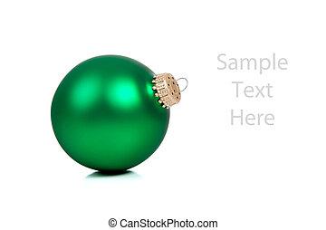 de ruimte van het exemplaar, groen wit, ornament/bauble, kerstmis