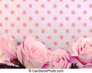 de ruimte van het exemplaar, kunstmatig, papier, achtergrond, bloemen