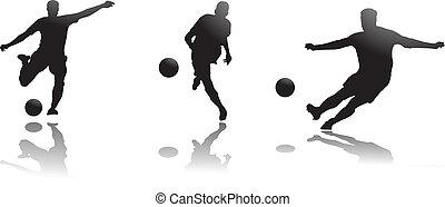 de spelers van het voetbal