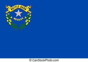 de staat van nevada, vlag