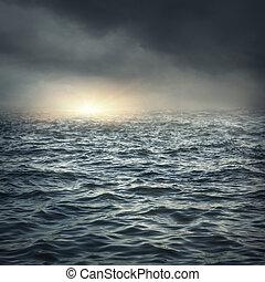 de, stormachtige zee