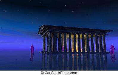 de, tempel