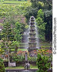 de tempel van het water, fontijn, tirtagangga, bali