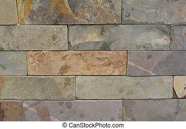 de, textuur, van, de, steen
