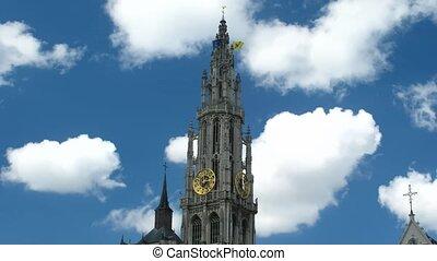 de tijdspanne van de tijd, kathedraal