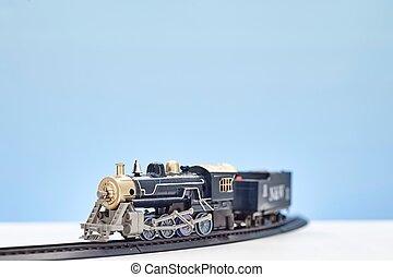 de trein van het stuk speelgoed, set