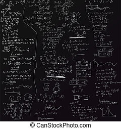 de, vector, achtergrond, met, lichamelijk, formules
