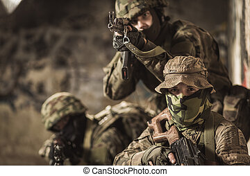 de, veta, alla, militär, taktik