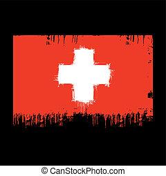 de vlag van zwitserland