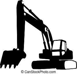 de voertuigen van de bouw, (vector)