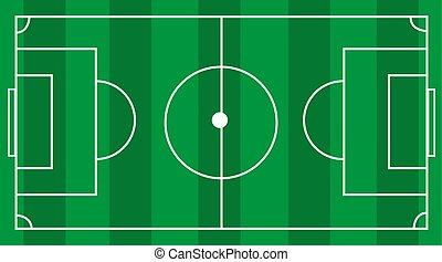 de voetbal van het voetbal, akker, vector, groene achtergrond, gras