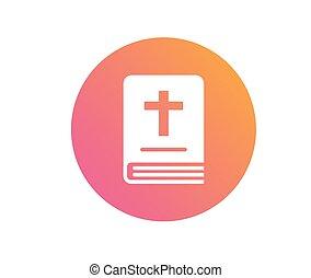 de, vrijstaand, kleurrijke, helling, heilige bijbel, boek, pictogram