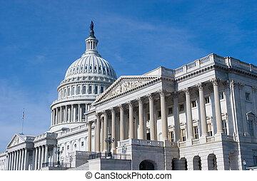 de v.s. capitol, gebouw, in, washington dc
