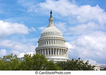 de v.s. capitol, gebouw, koepel, washington dc