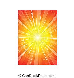 de, warme, zomer, zon