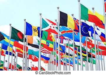 de wereld, nationale, vlaggen