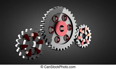de wielen van het toestel, roteren