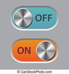 de, y, en, botones