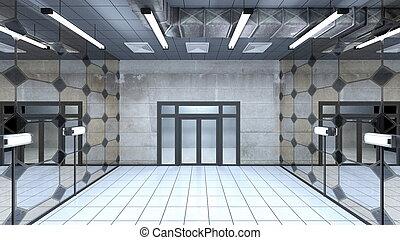 de zaal van de ingang