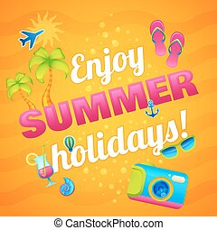 de zomervakantie, poster
