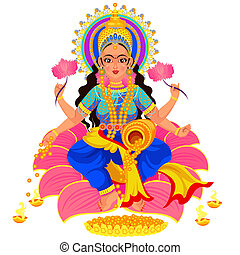 dea, ricchezza, diwali, indiano, lakshmi, vacanza