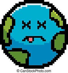 Dead 8-Bit Cartoon Earth