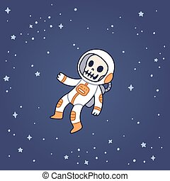 Dead astronaut floating in space. - Dead astronaut floating...