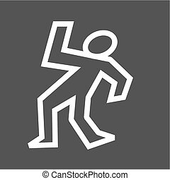 Dead, body, man icon vector image. Can also be used for law and order. Suitable for mobile apps, web apps and print media.