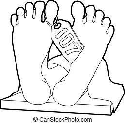 Dead body icon, outline style