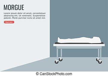 Dead Body in a Morgue