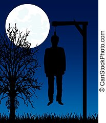 Dead body on gallows