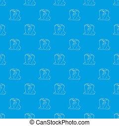 Dead body pattern seamless blue