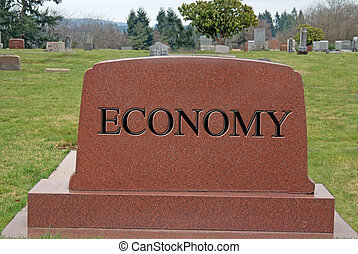 Dead Economy - Economy dead and buried in debt