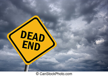 Illustration of dead end road sign